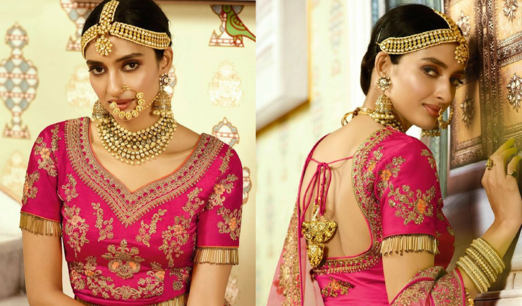 Classy bridal heavy embroidery blouse