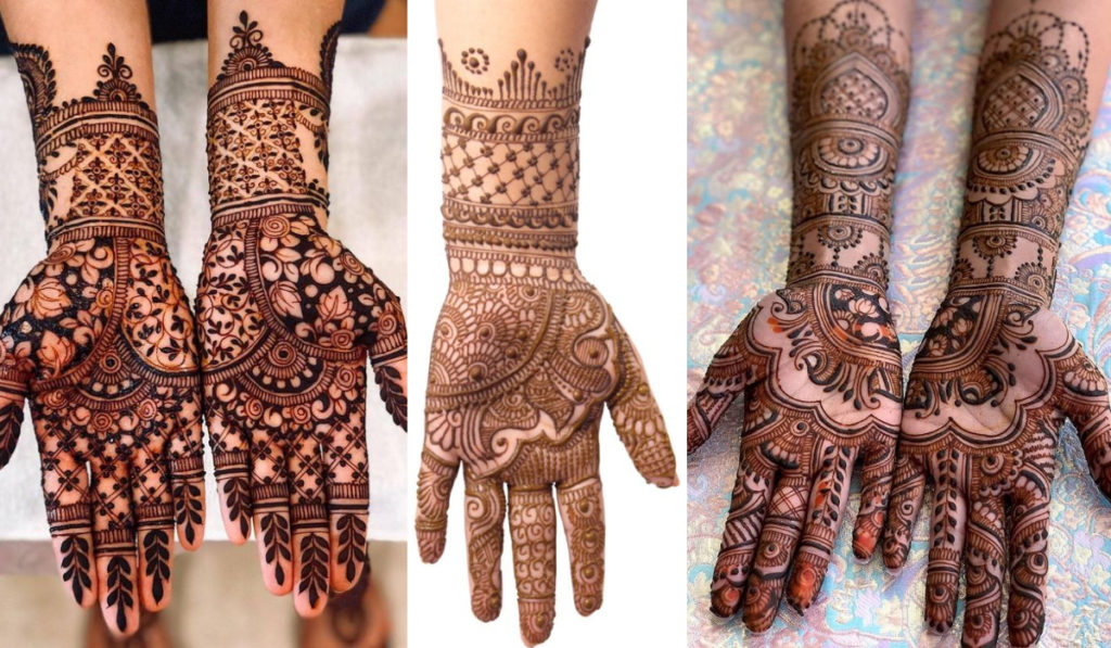 Create the Mirror Image as Mehendi design