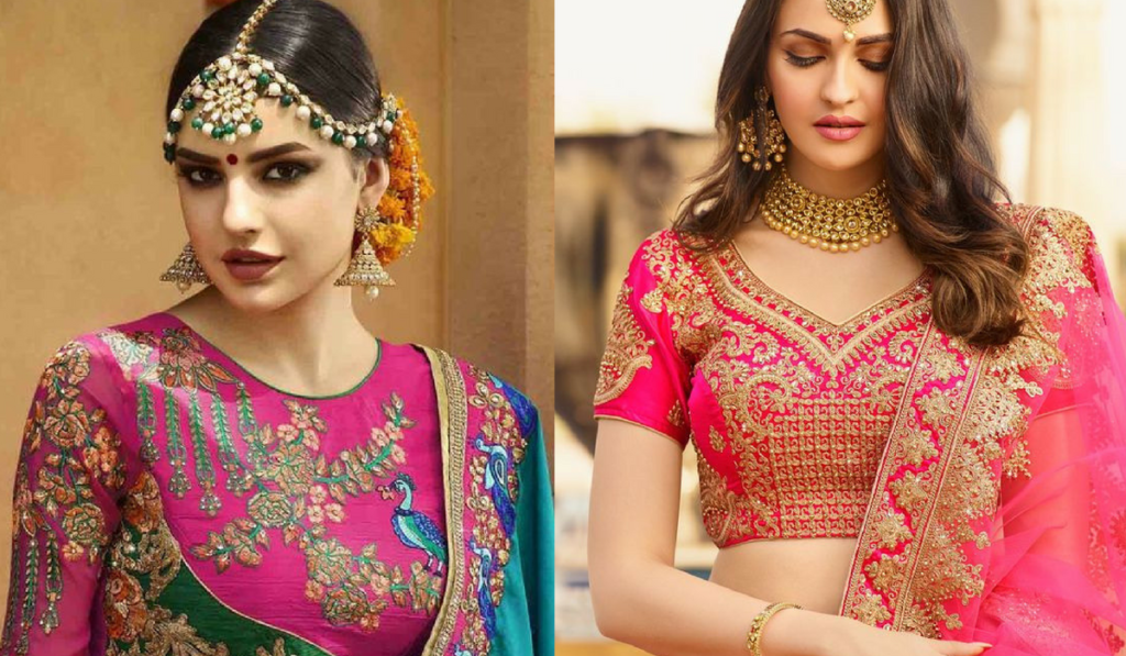 Especially designed blouse for lehenga choli