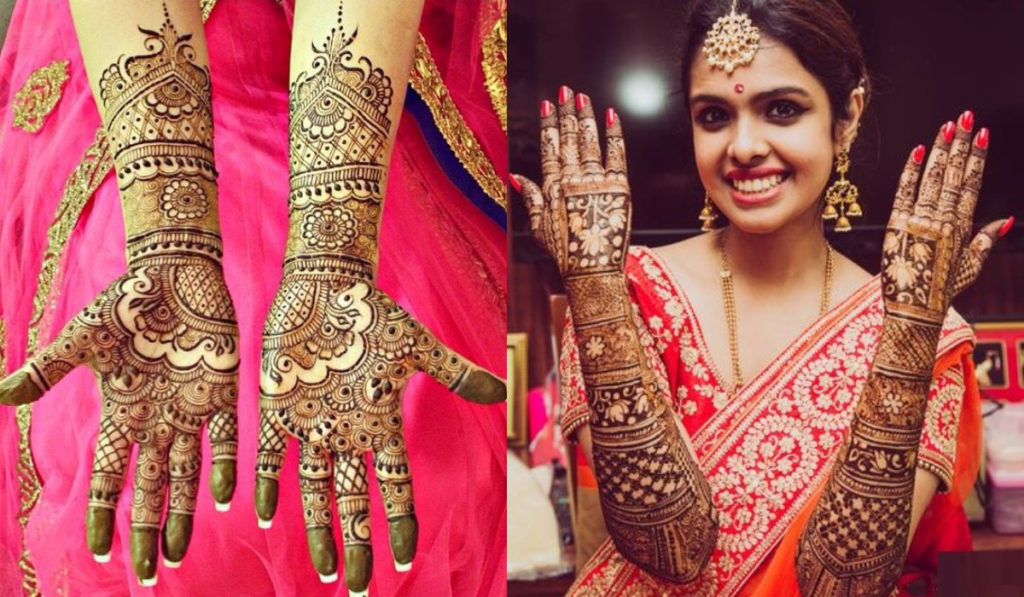 Flowers for Bangle style Mehendi Design