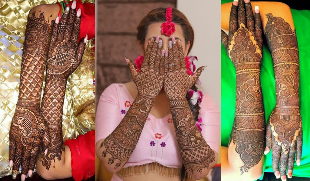 Full Hand Mehendi Design for the Back
