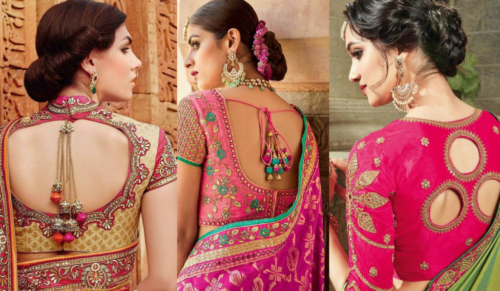 Heavy embroidery with beautiful back neckline