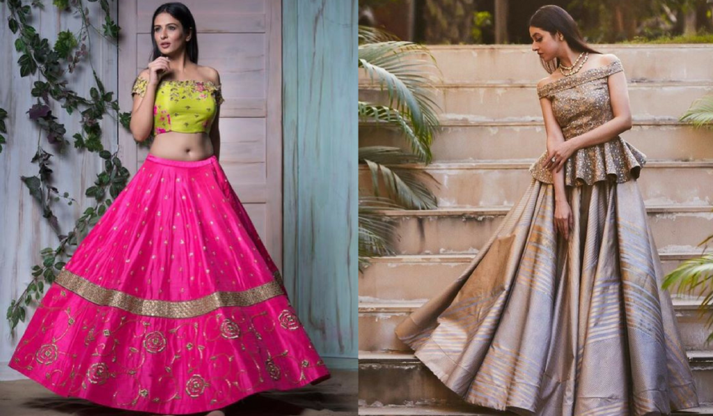 Off-shoulder blouse for lehenga choli