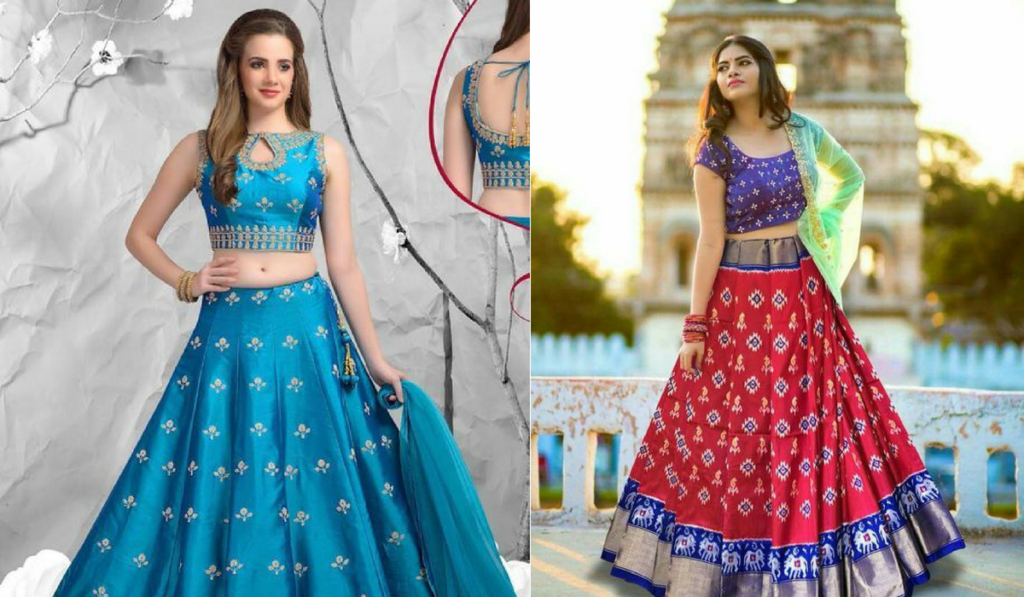 Printed blouse for lehenga choli