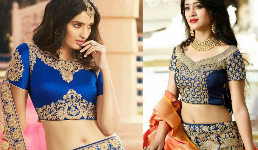 Royal blouse designs for lehenga choli