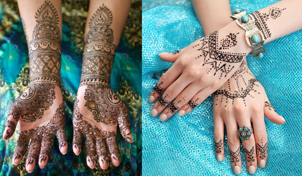 Simple Designs for Bangle style Mehendi design