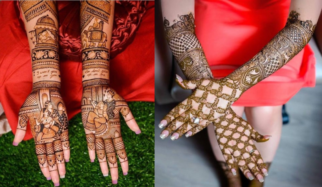 The Best Bridal Mehendi Design with love messages for the wrist