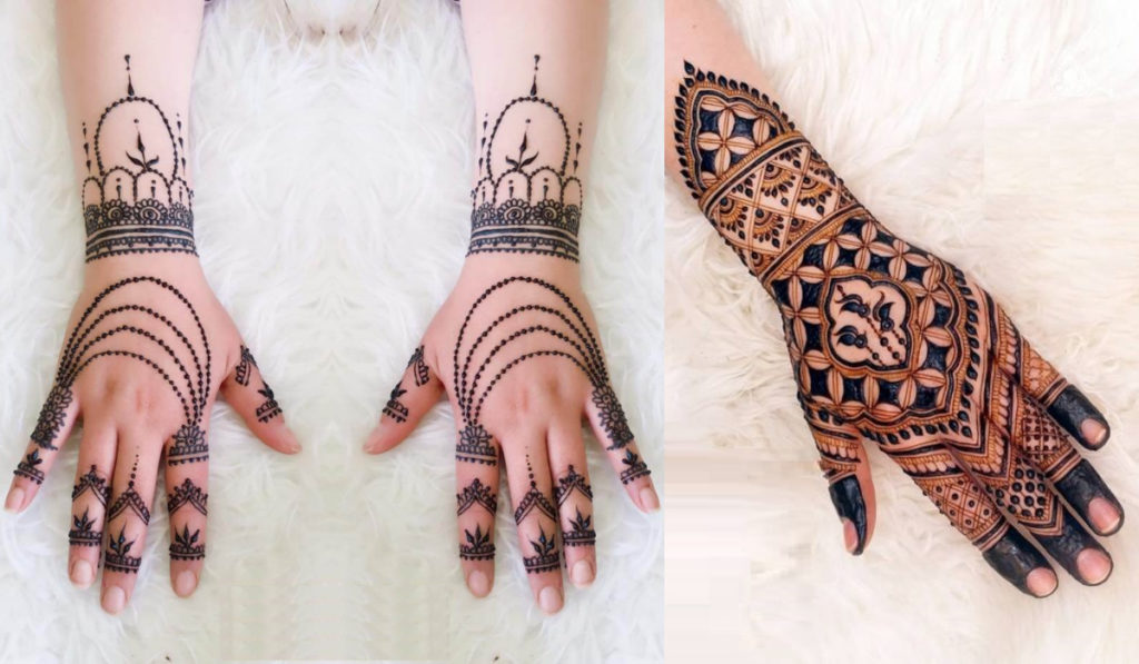 The Jewelry style Mehendi design