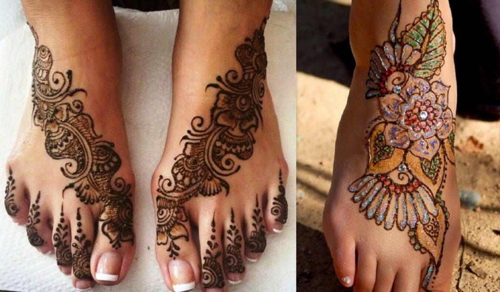 The multi-colored mehendi
