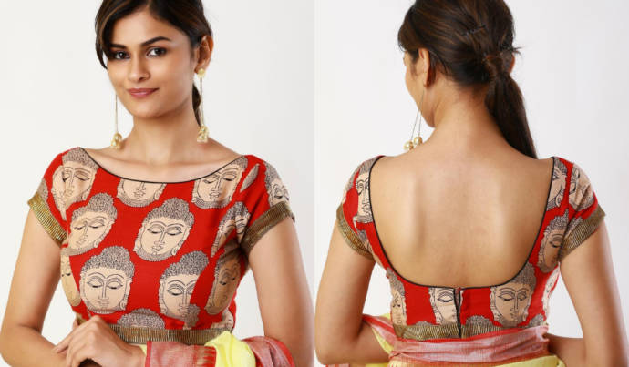 Latest Kalamkari Work Blouse Designs 2019