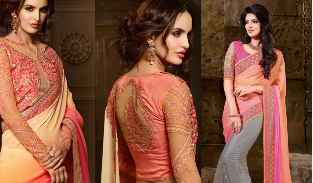 Classic embroidery party wear blouse