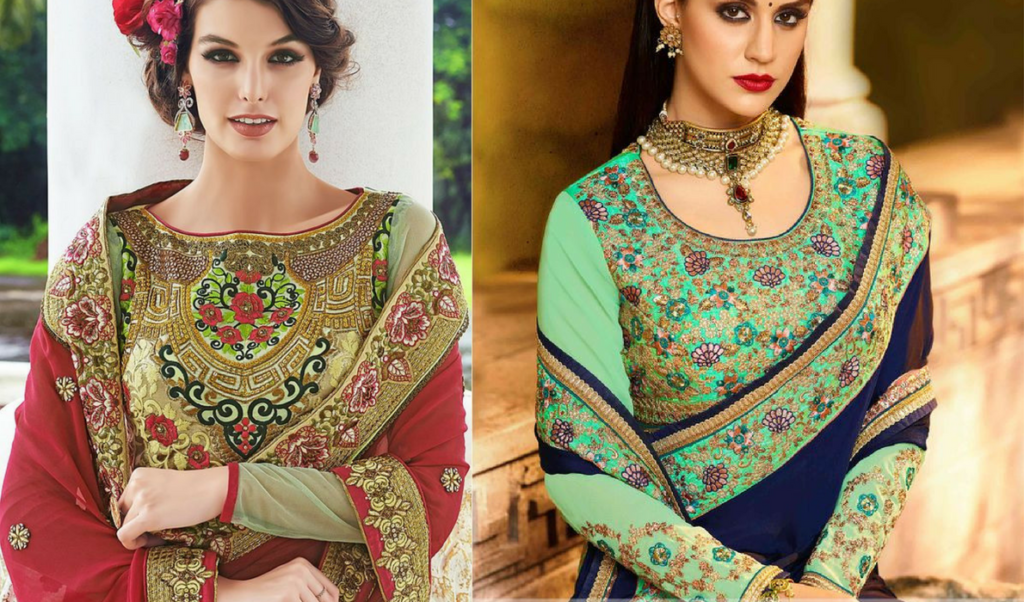 Heavy maggam work, full sleeved blouse