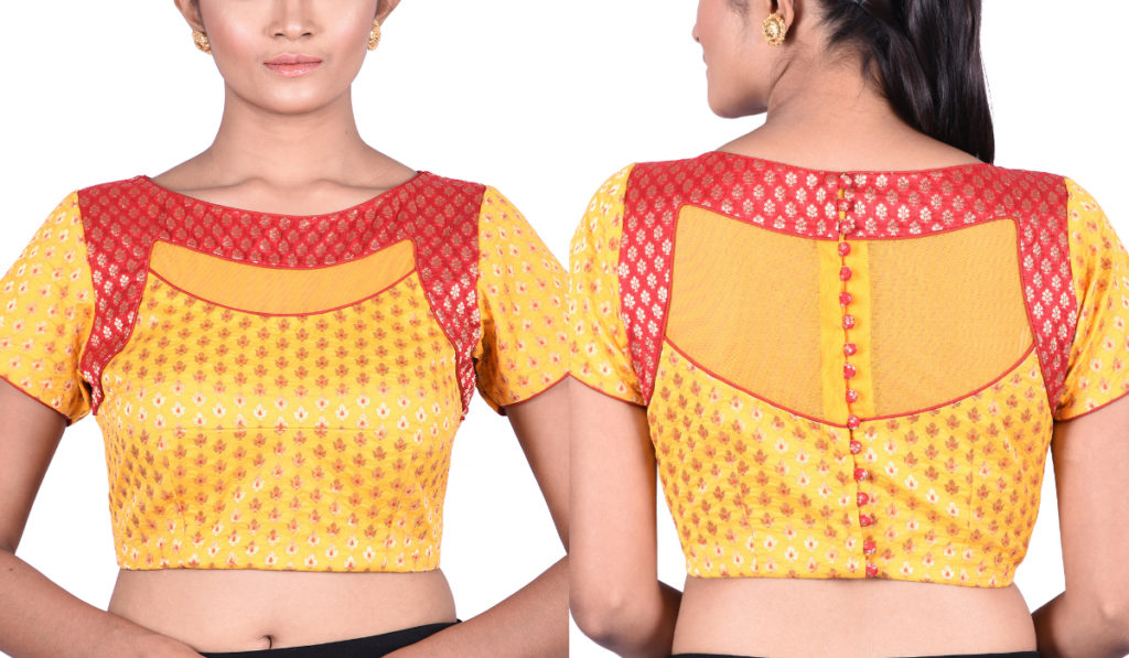 Net blouse with half sleeves