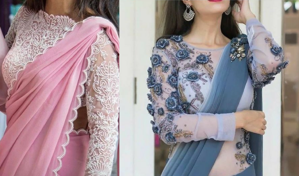 Pearly work, full sleeved blouse