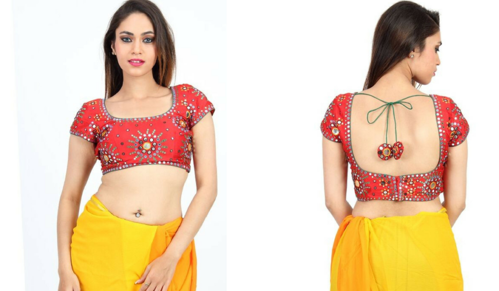 Traditional, mirror work blouse