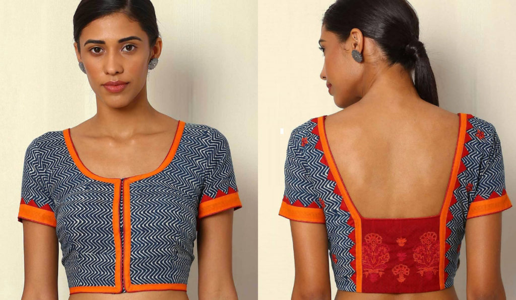 Traditional, patchwork blouse