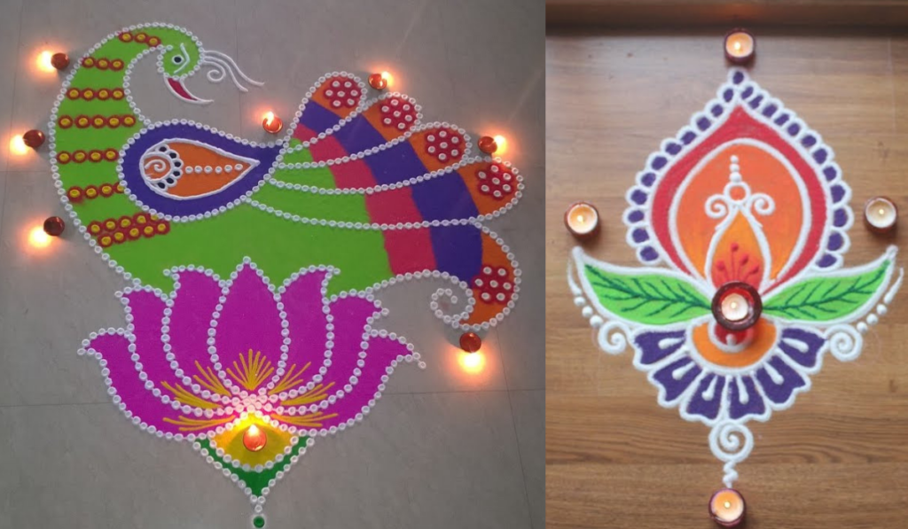 A Floral touch to Rangoli Designs