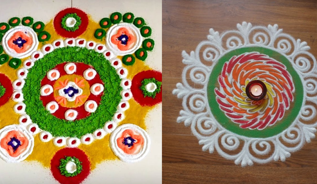 Circles inside a Circle Rangoli
