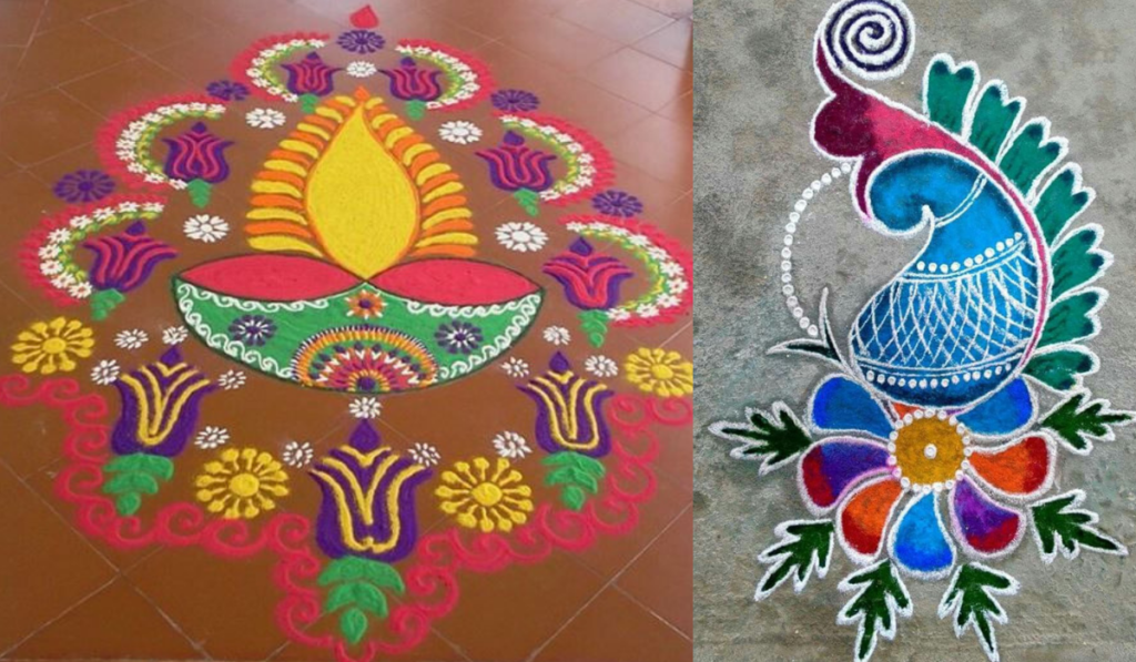 Diya or Paisley Design Rangoli