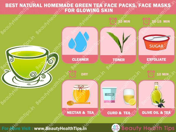 Green Tea Face Packs For Glowing Skin Fairness