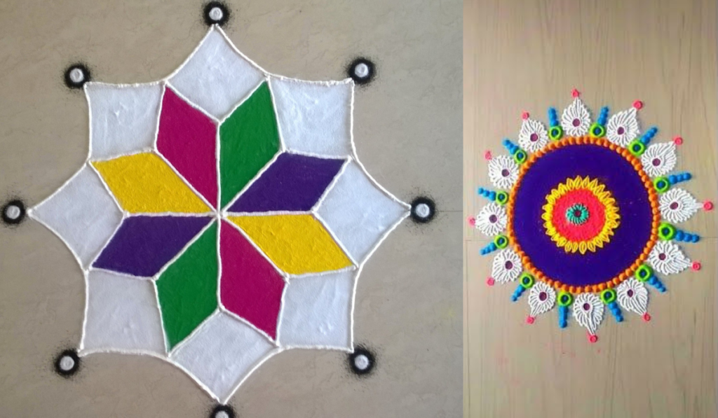 Simple Artsy Designs for Rangoli