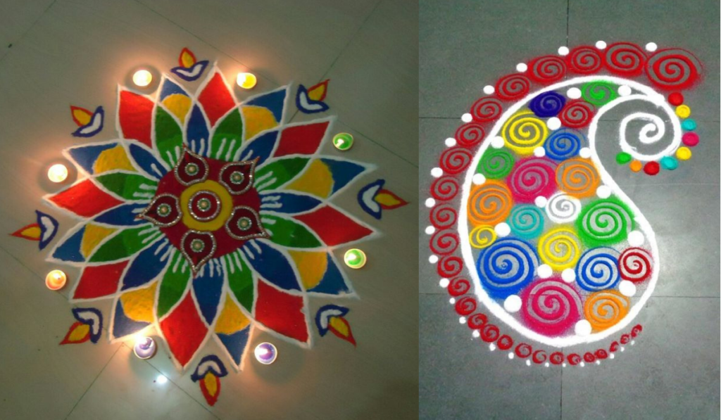 The Perfect Sunflower Rangoli