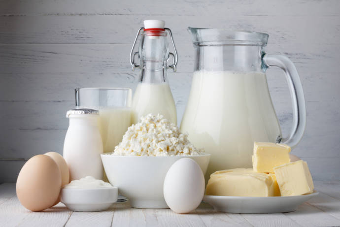 Take care about dairy products as rich in fat