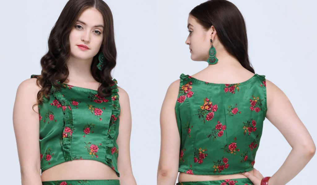 A vibrant floral printed blouse
