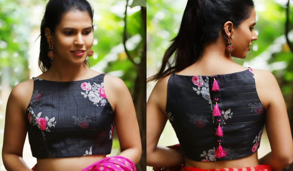 An attractive floral blouse