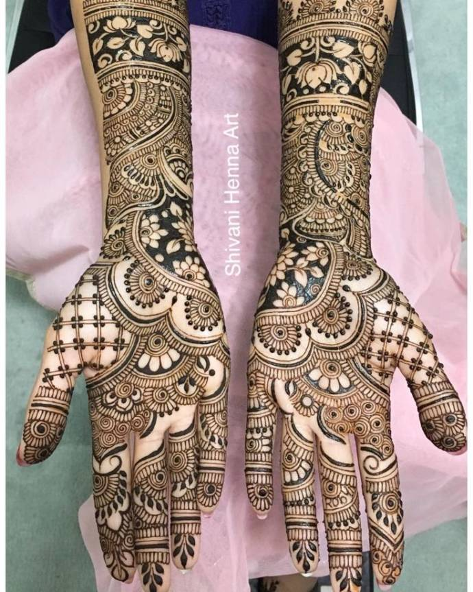 Arabian Bridal Art Full Hand Design
