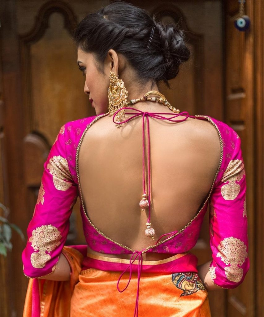 Backless with double dori