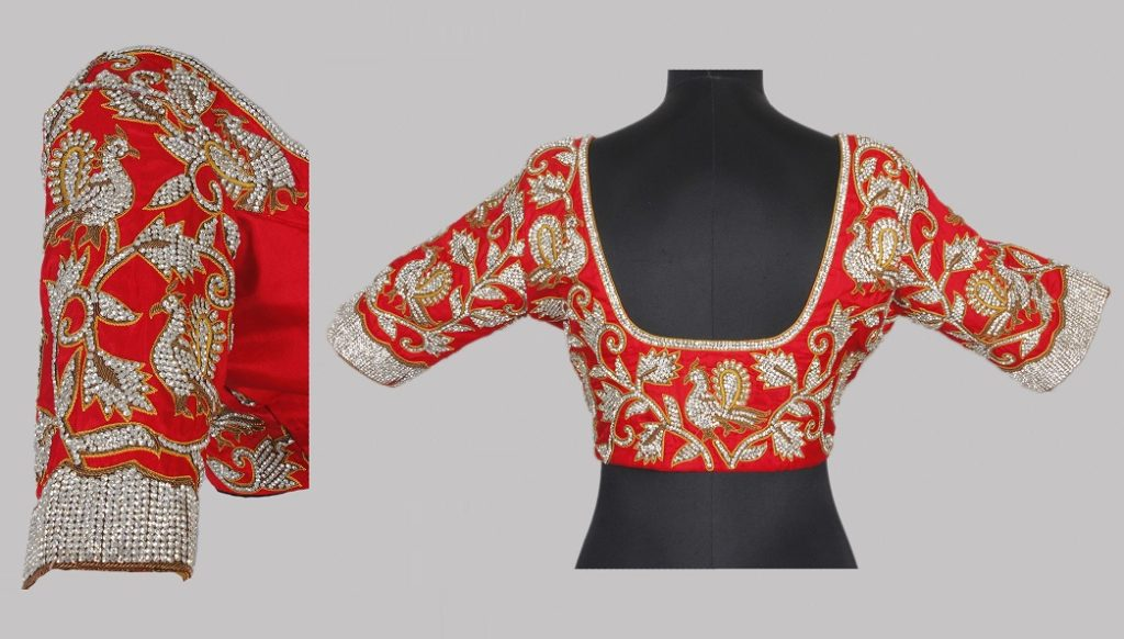 Chic blouse with maggam work