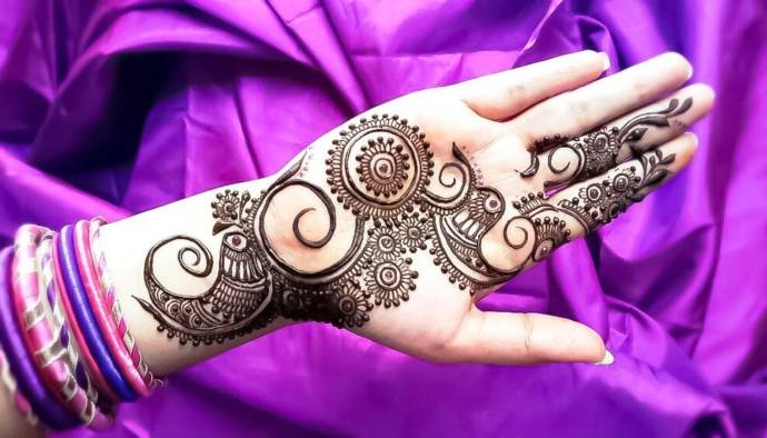 Delicate Rajasthan Regal Mehndi for Palm