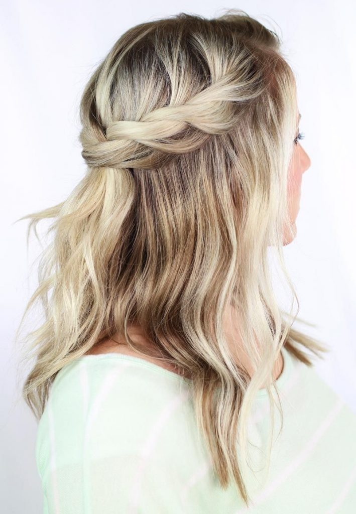 Half Head Dutch Braid