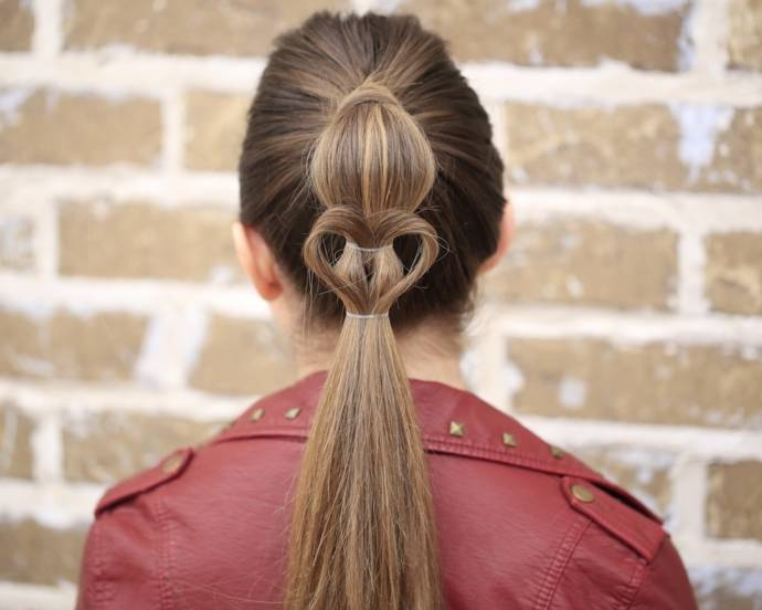 Heart designed ponytail
