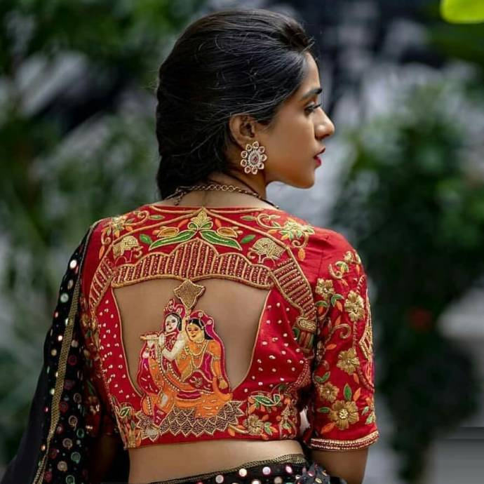 Heavy Embroidered Back Design Blouses