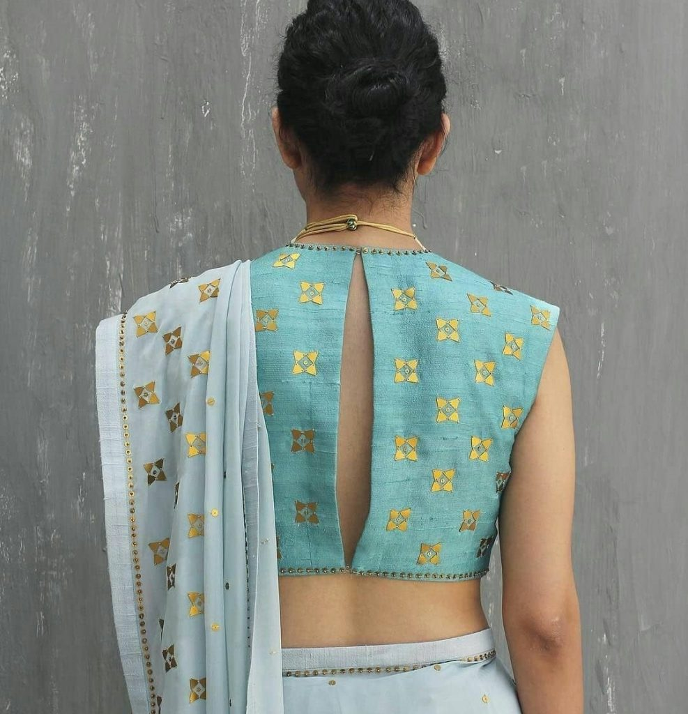 Latest Back Neck In Cotton Silk