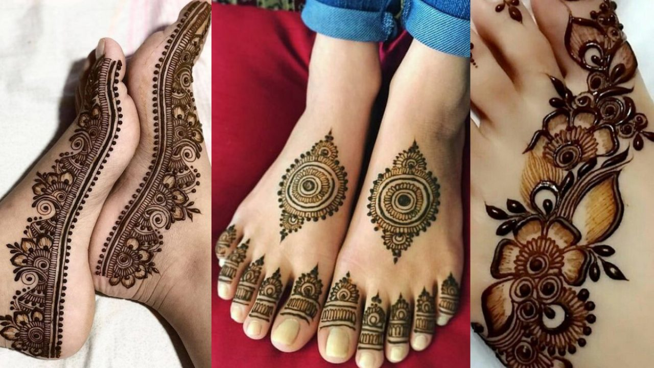 Latest Simple Mehndi designs for legs 2019 , Beauty \u0026 Health
