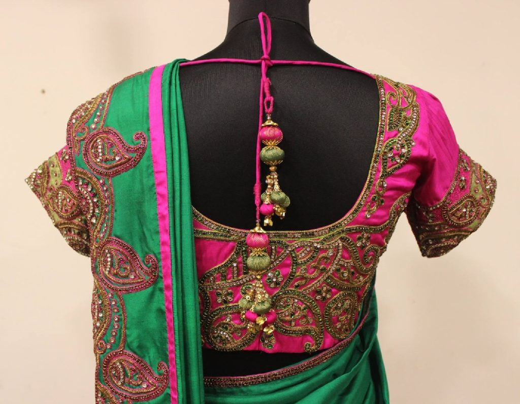 68f7b2cd3a4b0 Latest maggam work blouse designs 2019 - Share Tips Idea
