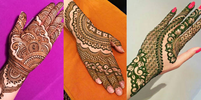 New Simple Mehndi Designs For Left And Right Hands 2019 Beauty Health Tips