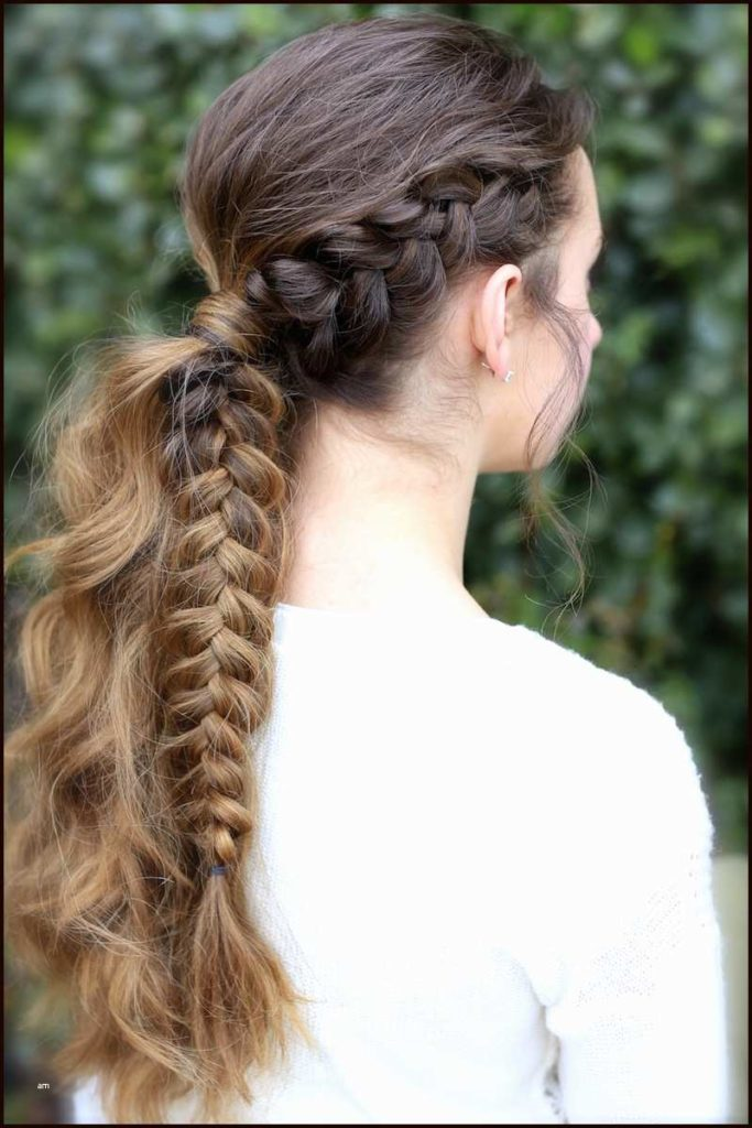 Partial braid ponytail