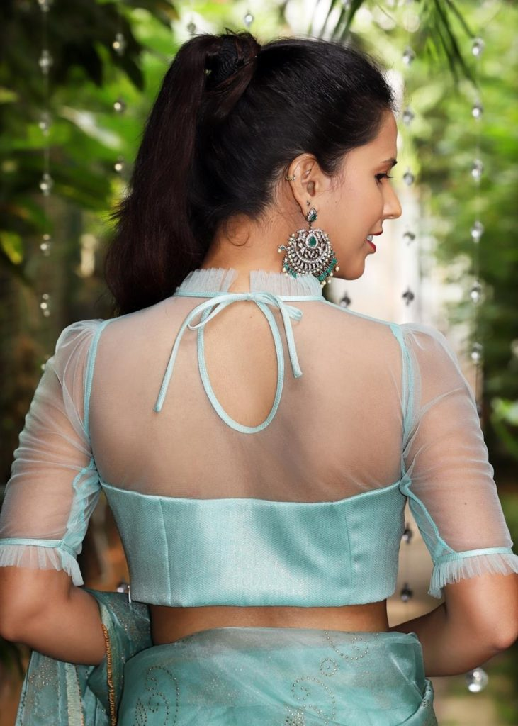 Sheer back and sleeves