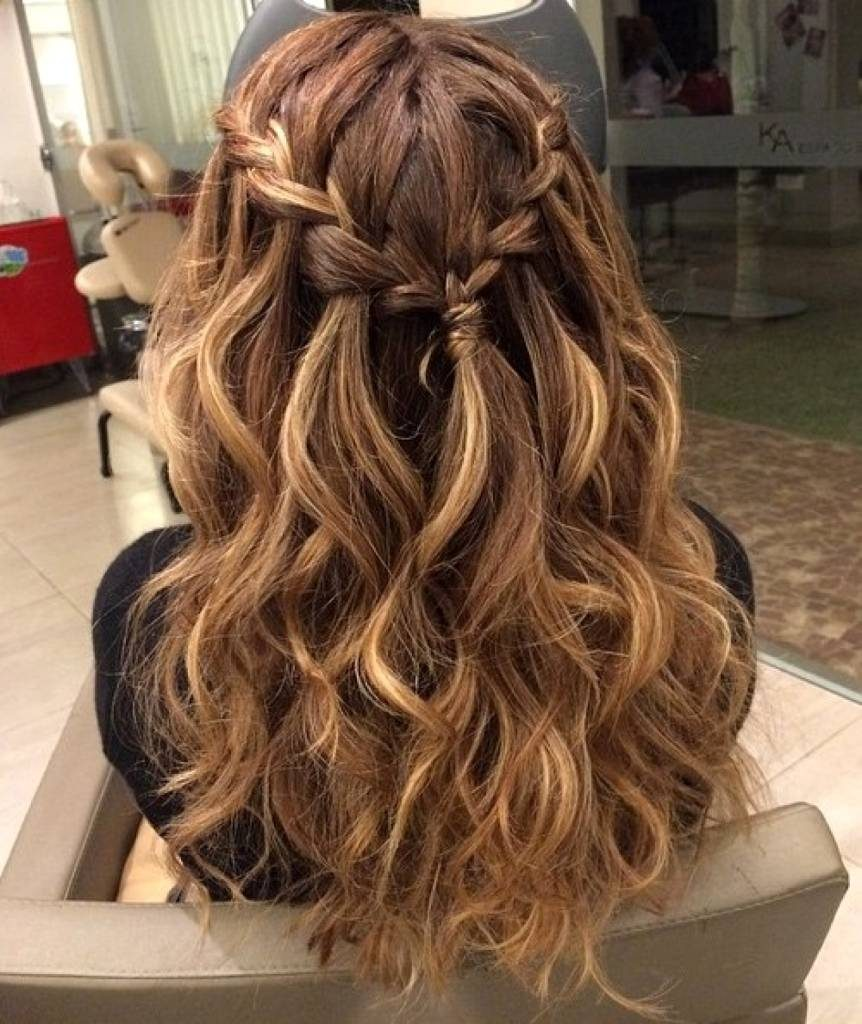 Side Braid with Soft Curls