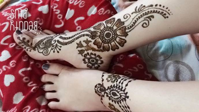 Latest Simple Mehndi Designs For Legs 2019 Beauty Health Tips