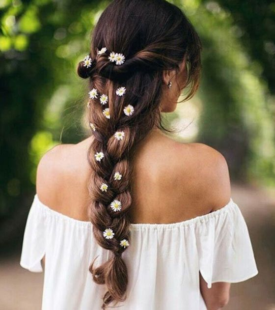 Simple braid with crown roll up