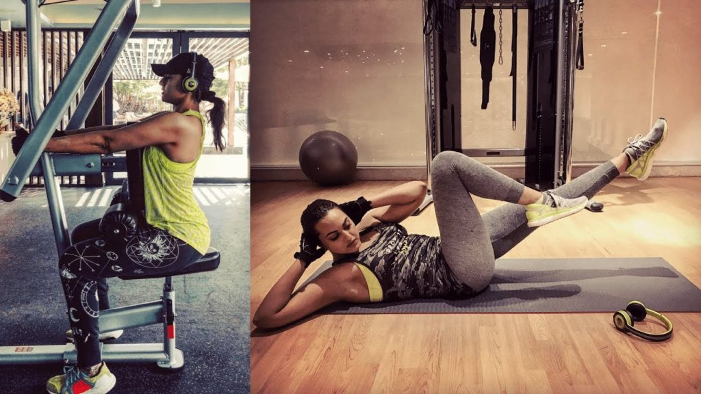 Sonakshi Sinha's workout tracks