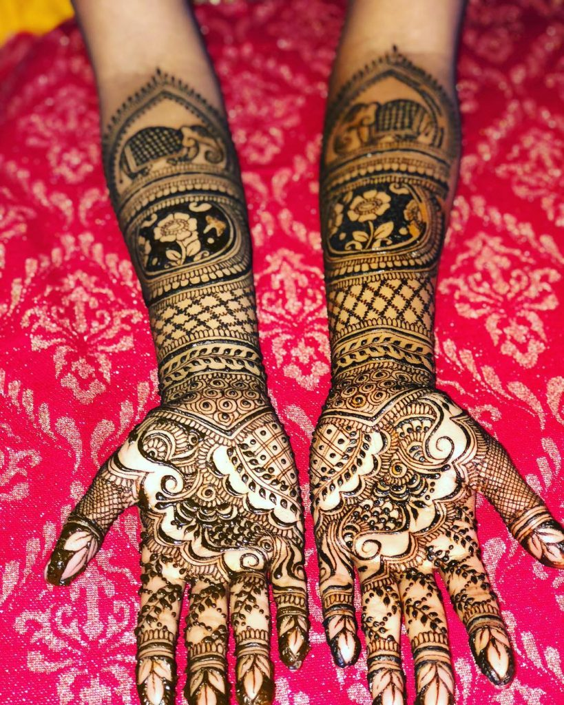 The Elephant Mehndi Grandeur
