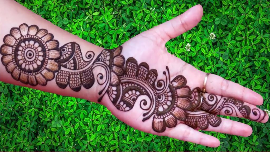 Traditional Arabic Full Hand Mehndi Design