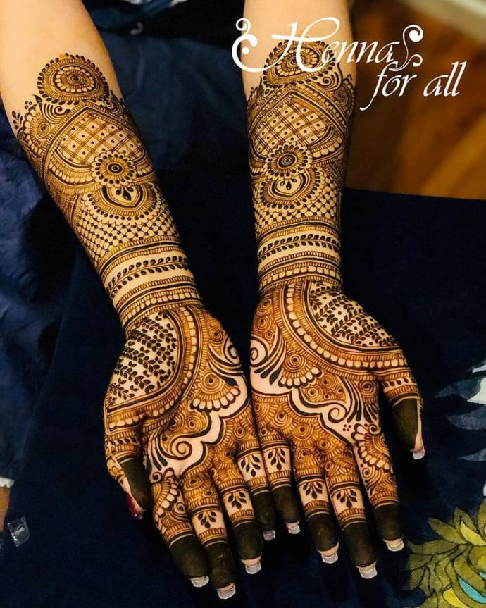Traditional Indian Full Hand Bridal Henna