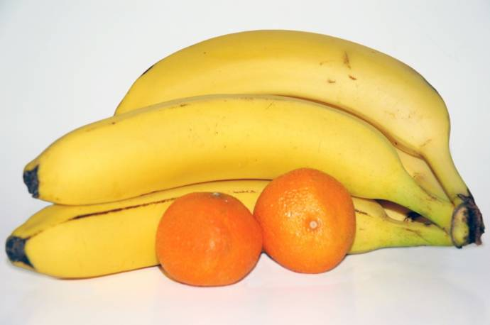 banana and oranges